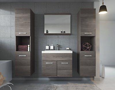 Badezimmer Badmöbel Set Montreal XL 60 cm Waschbecken Bodega - Unterschrank  ()