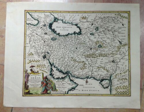 KINGDOM OF PERSIA 1719 PETER VAN DER AA NICE ANTIQUE MAP IN COLORS 18TH CENTURY