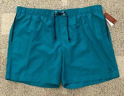 Original Penguin Men's Elastic Waist Pop Swim Volley Shorts Green Size XL