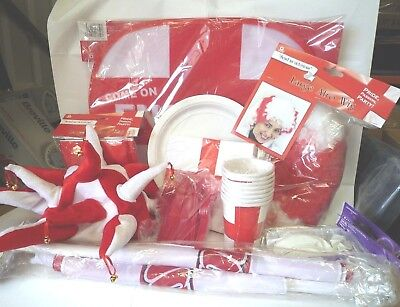 ENGLAND PARTY SET WORLD CUP ST GEORGE SET CAR FLAG TABLEWARE WIG FLAG BALLOONS