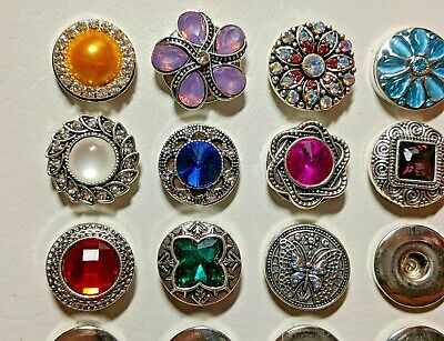 Ginger Noosa Snap On Button 18mm Charms Fits  Bracelets Pendant Jewelry