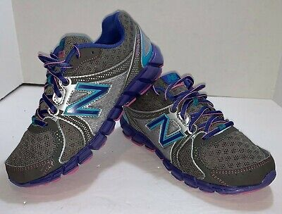 New Balance 750v2 Shoes Youth Size 3 / Running Sneakers Titanium/Purple