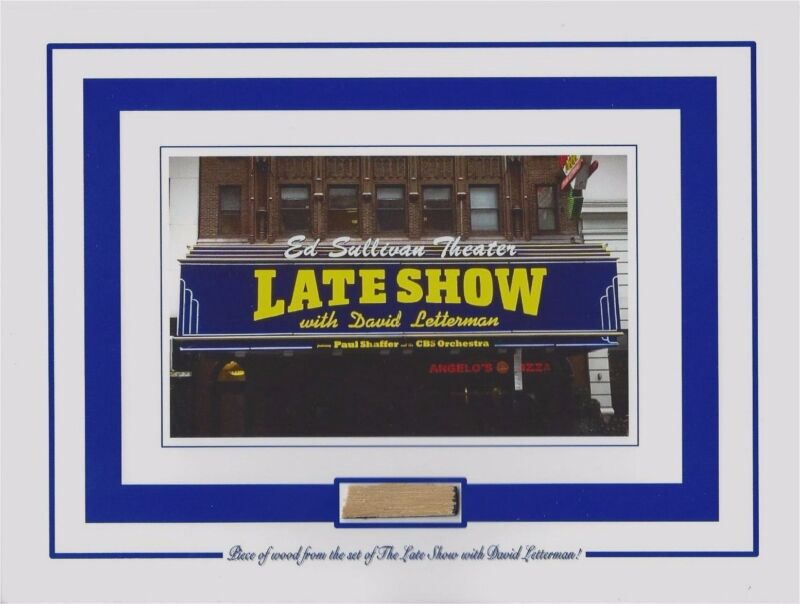 PIECE of the SET from THE LATE SHOW WITH DAVID LETTERMAN Ed Sullivan Thea. prop