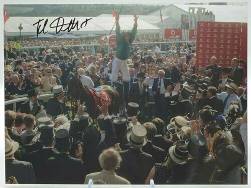 Frankie Detorri Horse Racing SIGNED 16x12 Photo AFTAL OnlineCOA