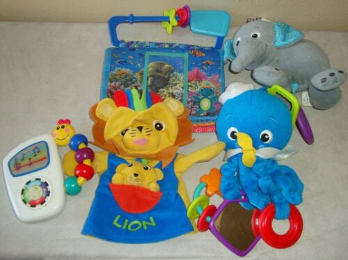 Baby Einstein Infant Baby Toy Lot Crinkle Book Take Along Tunes Puppet Octopus
