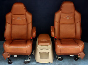 2007 2006 2005 2004 F250 F350 King Ranch Style Bucket Seats With New Covers Ebay