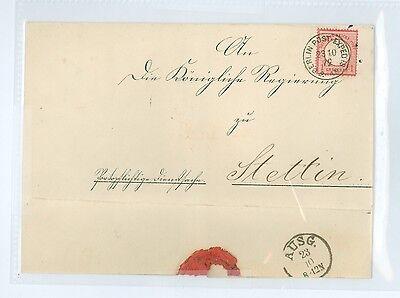 GERMANY SCOTT 4 IMPERIAL EAGLE 1872  FOLDED LETTER SHEET POSTMARKED BERLIN POST