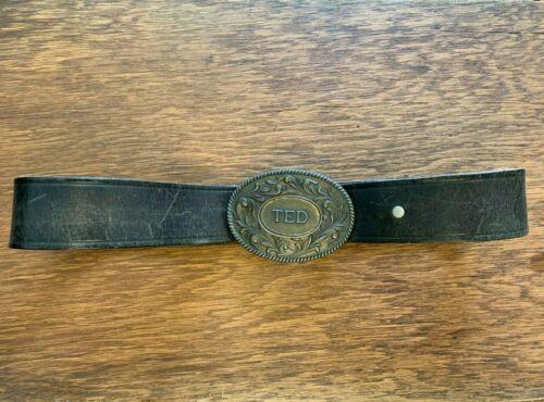 US Major Robinson Estate Leather Belt and Buckle