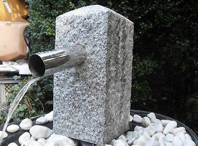 Wasser-Säule  Granitstein Teich Brunnen