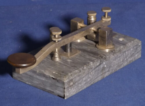 A Clapp Eastham Spark Gap Morse Code Key In Excellent Condition  ...All Original