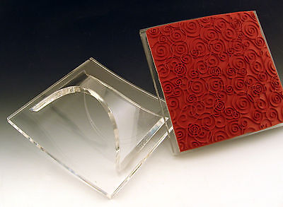 Mega Mount Block 4 Impression Obsession Cover A Card Unmounted Rubber Stamps NEW