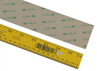 3m 300lse Super-strong Double-sided Adhesive Strips, 36 In Long, Various Widths