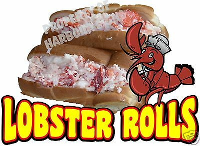 Lobster Rolls Decal 14 Seafood Sandwich Concession Food Truck Vinyl Sticker