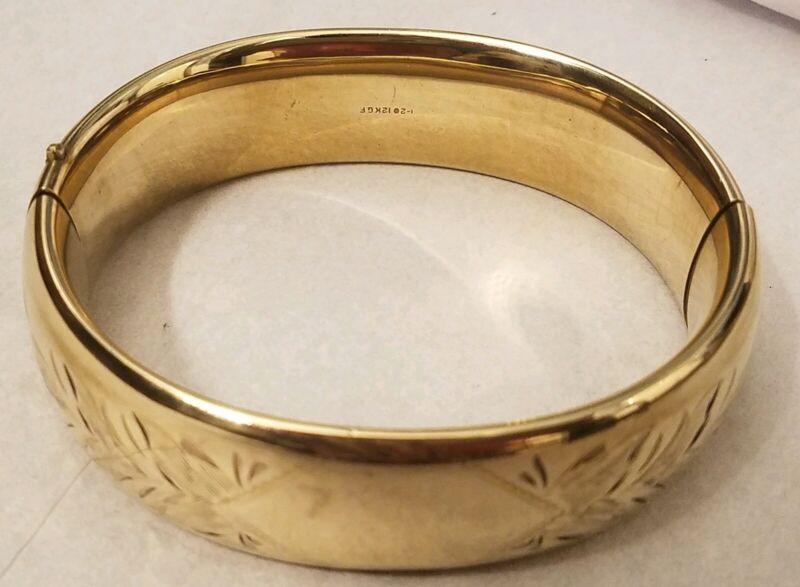 Victorian 12k gf Gold Filled Bangle Bracelet