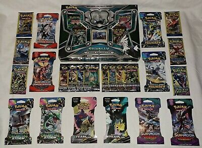 28 Assorted Pokemon Booster Packs / NEW & SEALED / SILVALLY FIGURE BOX Plus More