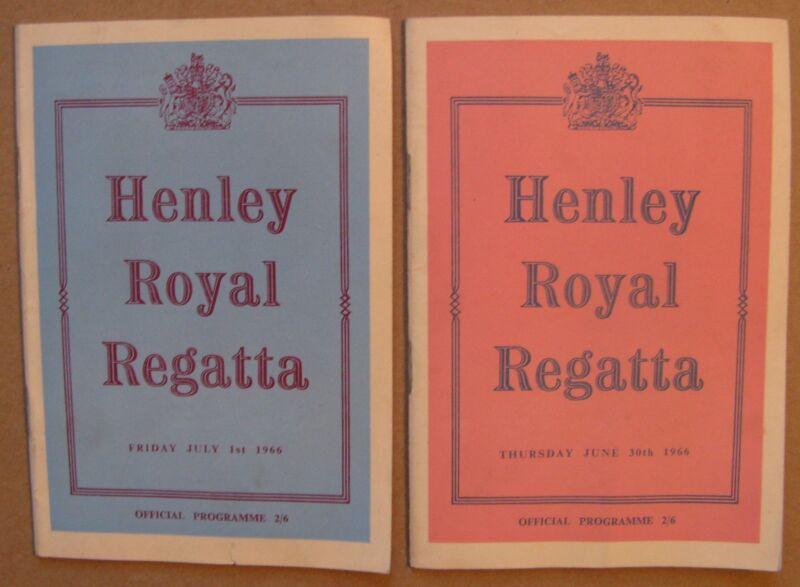 "(2)1966  Programs: ""Henley Royal Regatta"", London, Amateur Rowing Association"