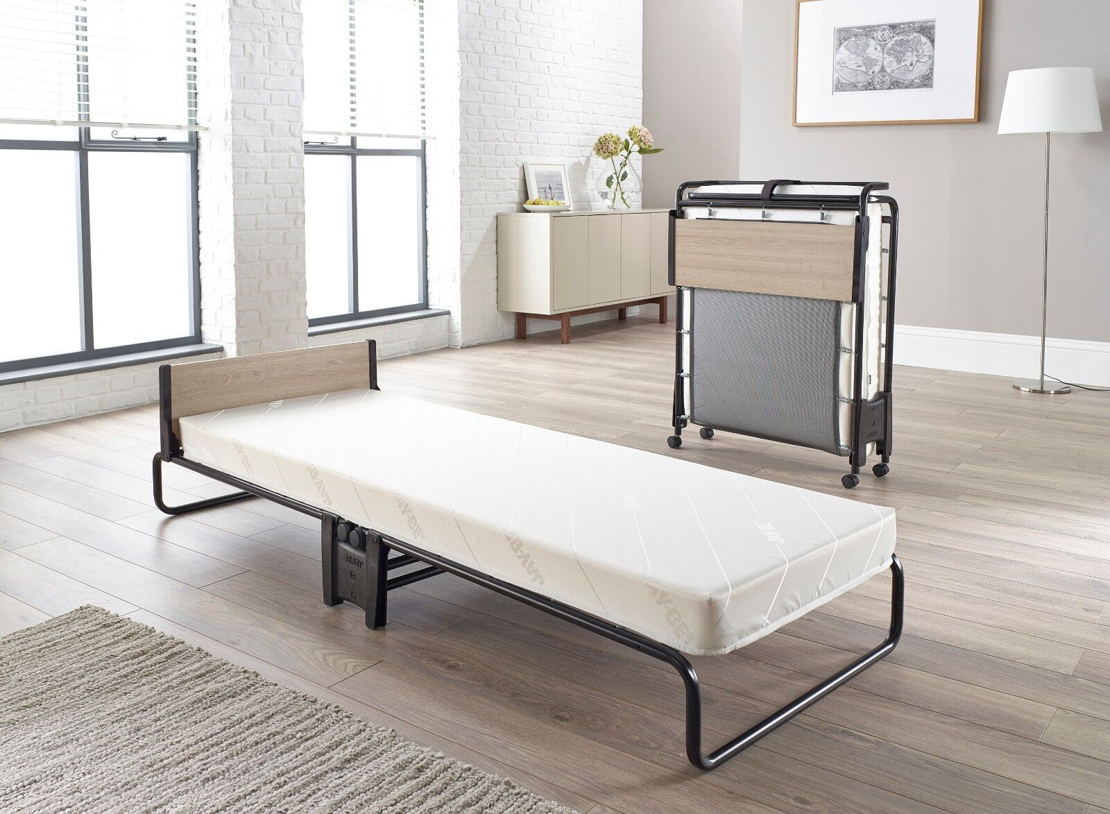 - Jay Be Guest Revolution Small Single Folding Bed With Memory Foam