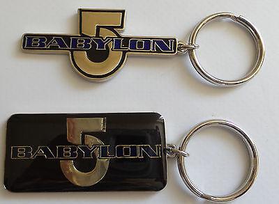 BABYLON 5 :  SET OF TWO BABYLON 5 KEYRINGS MADE IN 1996 (BP)