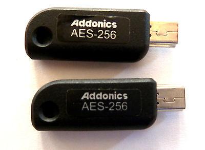- 2  Paired Addonics  AES 256-bit Cipher Keys for Hardware Encryption (AAENKEY256)