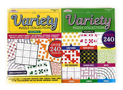 Kappa Variety 480+ Puzzle Collection Vol. 22 and 23 Crossword Sudoku Lot 2
