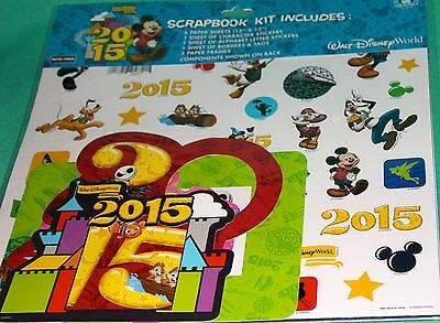 Disney World Scrapbooking (DISNEY PARKS 2015 SCRAPBOOKING KIT DISNEY WORLD CHARACTERS SCRAPBOOKING KIT NEW)