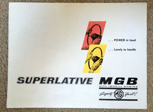 ORIGINAL 1963 MGB Car Sales Brochure  # H & E 63119