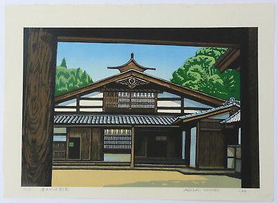 LARGE VINTAGE LTD EDITION  SIGNED JAPANESE WOODBLOCK PRINT KOICHI MAEDA