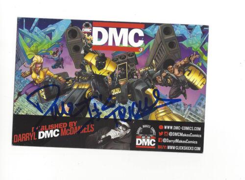 RUN-DMC (DARRYL MCDANIELS) SIGNED AUTHENTIC COMIC CARD w/COA D.M.C. RAP PROOF