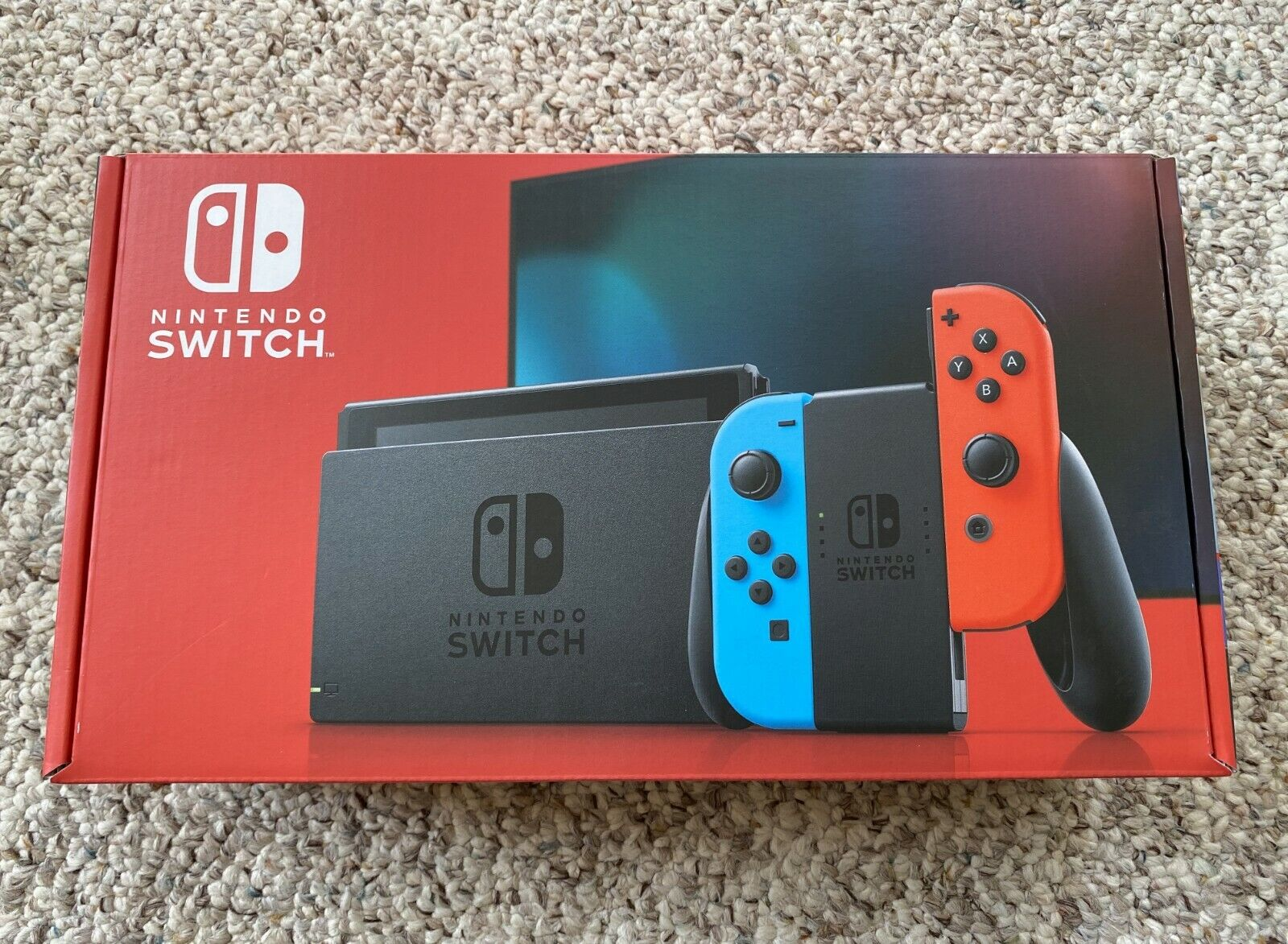 IN HAND Nintendo Switch V2 Neon Red and Blue Joy-Con Console Brand New Sealed!