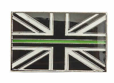Thin Green Line Union Jack Metal Tie Pin Lapel Badge Ambulance Paramedic Nurse