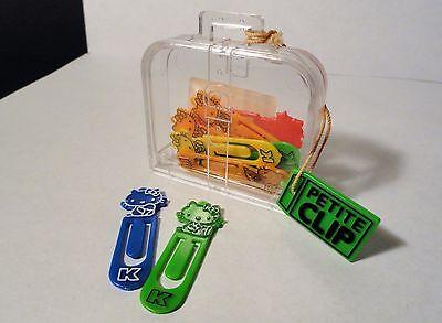 1985 Sanrio - Hello Kitty - Petit Clips in Plastic Case - Mini Hello Kitty - Hello Kitty Mini Clip