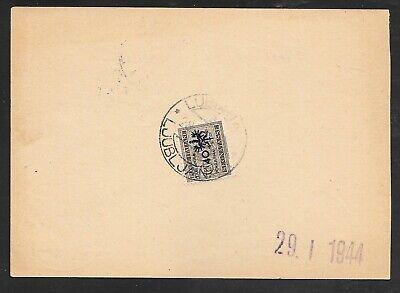 SLOVENIA / ITALY - 1944 PROVINZ LAIBACH 40c DUE / SEGNATASSE ON POSTAL CHEQUE
