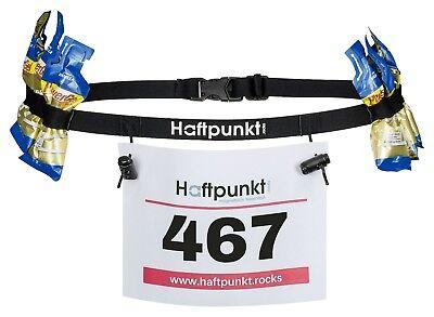 HAFTPUNKT Startnummernband (incl. 6 Gel Halter) zur Startnummer Befestigung