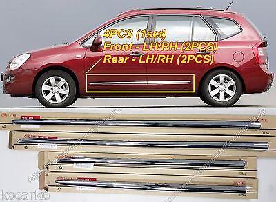 OEM Chrome Front Rear Door Side Body Molding 4PCS KIA Rondo Carens UN 2007-2012