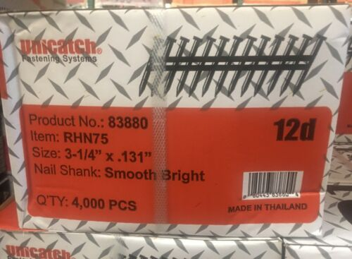 "3-1/4"" x .131 Bright Smooth 21` Framing Nails 4000/Case Hitachi,DeWalt,Senco"