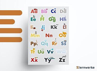 r ABC Poster/ABC Plakat für Kinder | DIN A1 / A2 / A3 (Lern-poster)