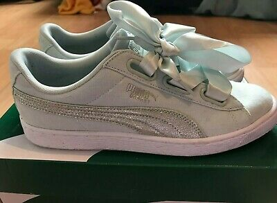 "Womens PUMA ""Basket Heart"" Mint size 7 Tainers"
