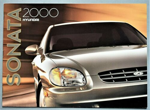 "ORIGINAL 2000 HYUNDAI SONATA SALES BROCHURE ~ 16 PAGES ~12.25"" X 8.75"" ~16S"