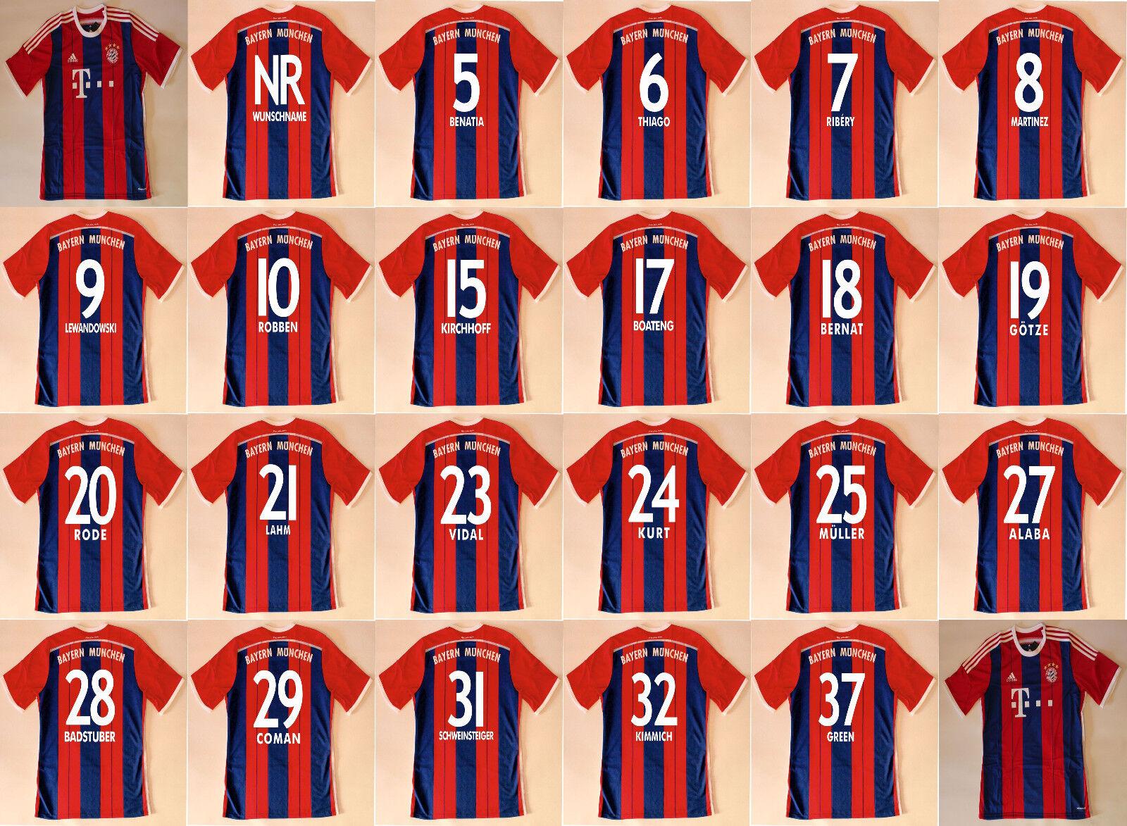 164 bis 3XL Trikot Adidas FC Bayern 2013-2014 Home WC FCB Schweinsteiger