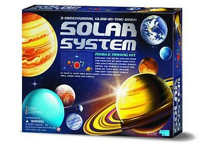 4M Miscellaneous Craft   3D Glow In The Dark Solar System Mobile Free Shipping