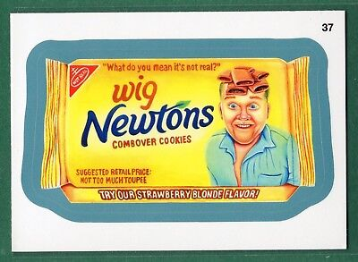 2013 Wacky Packages All-New Series 11, ANS11 #37. WIG NEWTONS (Blue Border) - Wacky Wigs