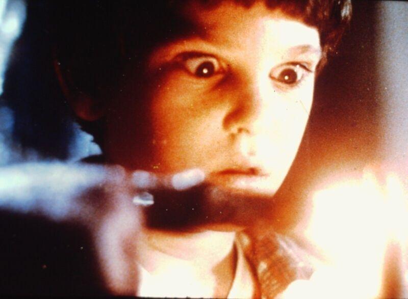 "HENRY THOMAS in ""E.T. the Extra-Terrestrial "" - Original 35mm Slide - 1982"