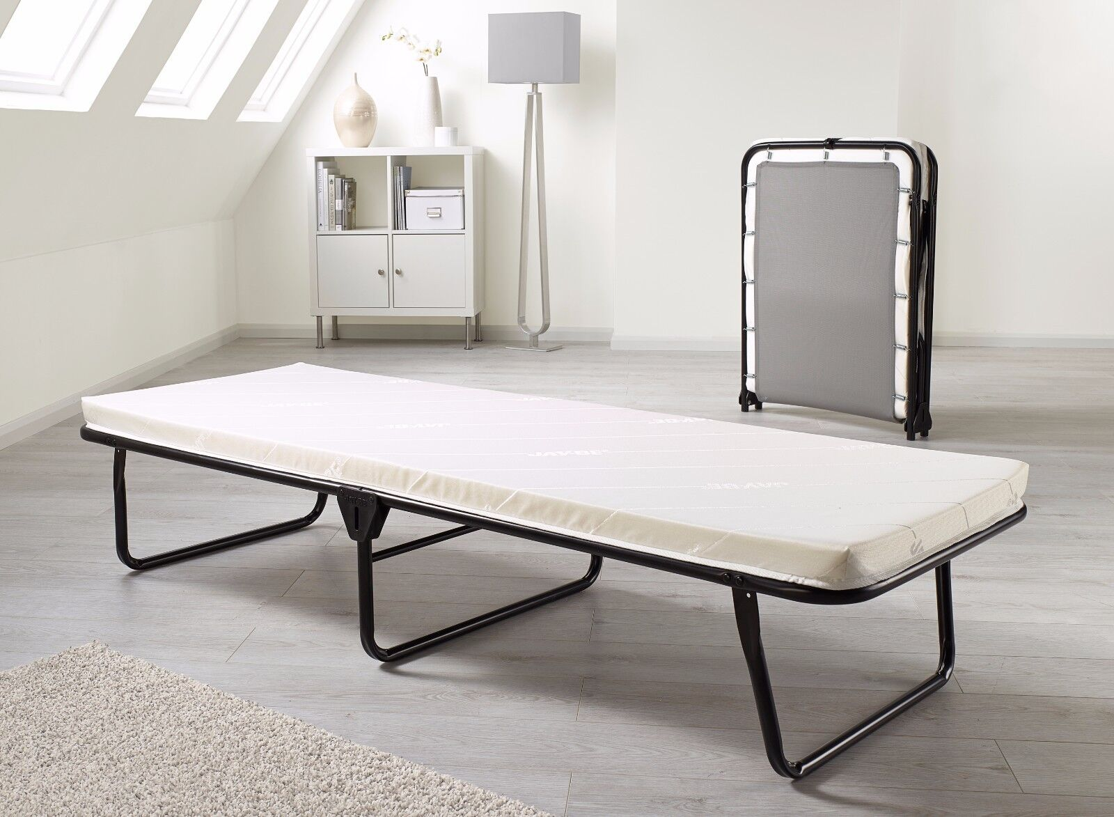 - Jaybe Guest Value Single Small Double Folding Bed With Memory Foam