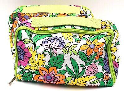 Print Train Case - Lot of 2: Clinique Flower Print Cosmetic Makeup Train Case Top Handle