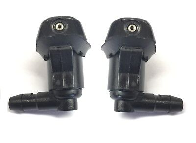 PAIR UNIVERSAL WINDSCREEN WASHER SINGLE JET ANGLED INLET PUSH FITTING 5MM WWY1
