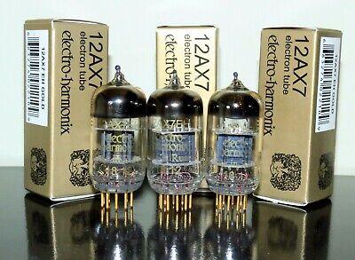 Matched Trio Electro-Harmonix Gold 12AX7