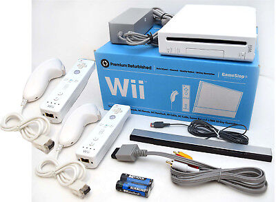 Nintendo Wii Video Game System 2 Remote Bundle Rvl 001 Gamecube Console White