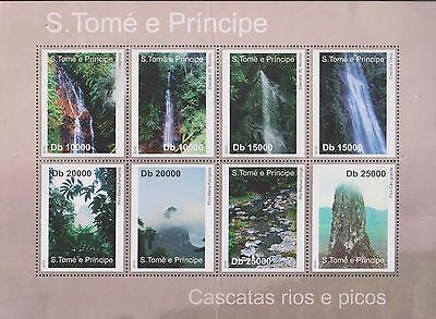 O) 2010 SAO TOME AND PRINCIPE, WATERFALLS, RIVERS, PICOS, NATURAL LANDSCAPES, BL