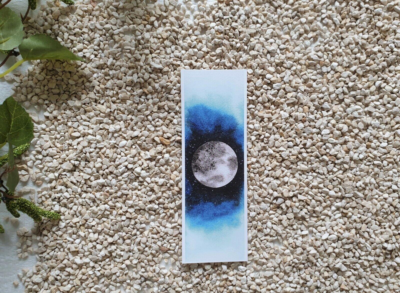 Lesezeichen Aquarelle ~ Watercolor~Buchzeichen~ Bookmark~Geschenk~Moon~Muttertag