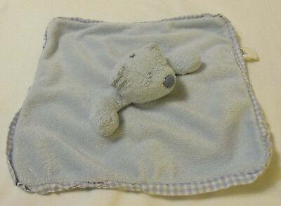 """Jellycat Jelly Kitten Blue Bear Lovey Security Blanket Velour Gingham 10.5"""""""